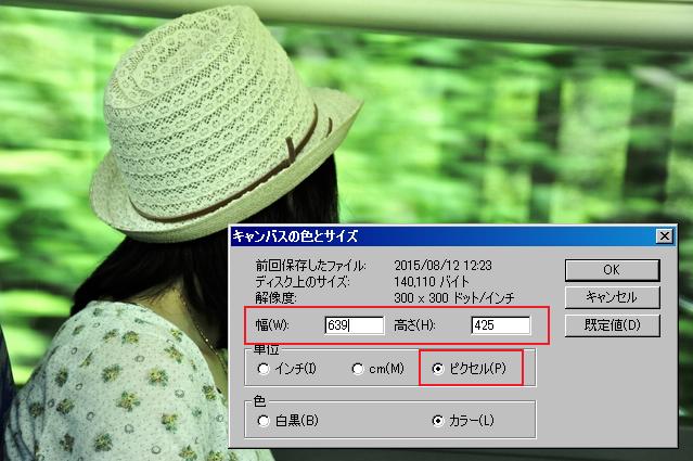 Windowsの「ペイント」で画像サイズを確認