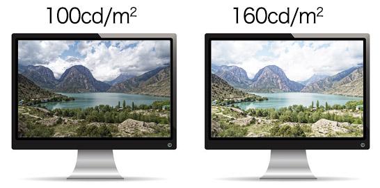 同じ写真を2台のモニターに表示した状態