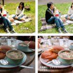 スナップ写真、料理の写真